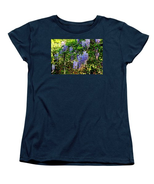 Wisteria Women's T-Shirt (Standard Cut) by Betty-Anne McDonald