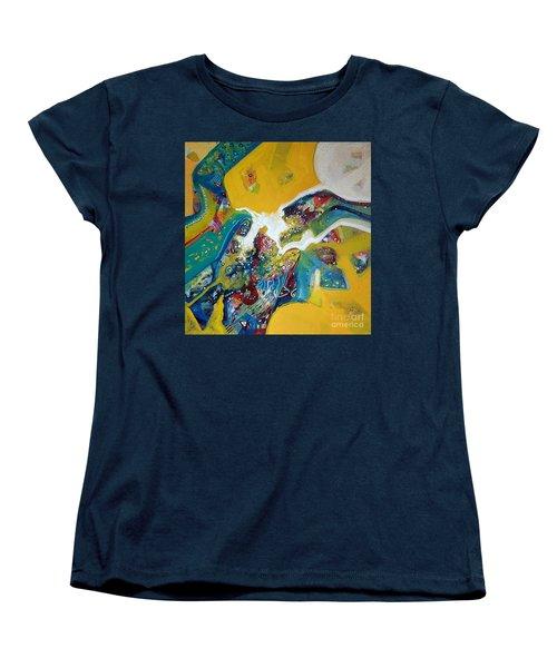 Yellow Harmony Women's T-Shirt (Standard Cut) by Sanjay Punekar