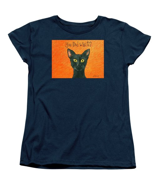 Women's T-Shirt (Standard Cut) featuring the painting You Did What? by Marna Edwards Flavell