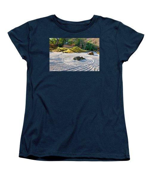 Zen Garden At A Sunny Morning Women's T-Shirt (Standard Cut) by Ulrich Schade