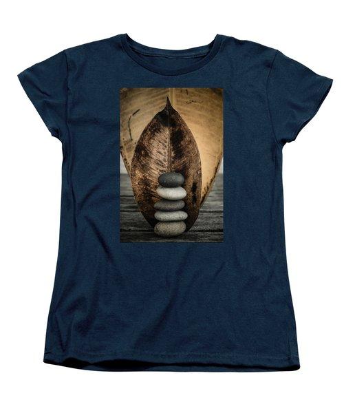 Zen Stones II Women's T-Shirt (Standard Cut) by Marco Oliveira