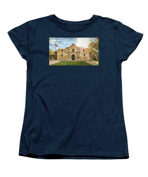 10862 The Alamo Women's T-Shirt (Standard Cut) by Pamela Williams