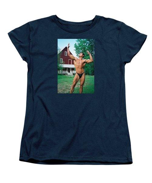 Muscle Art America Women's T-Shirt (Standard Cut) by Jake Hartz