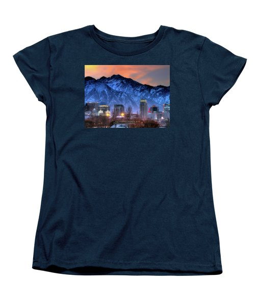Salt Lake City Skyline Women's T-Shirt (Standard Cut) by Utah Images