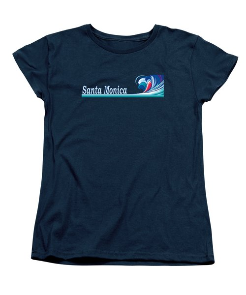 Santa Monica Women's T-Shirt (Standard Cut) by Brian's T-shirts