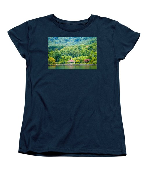 Scenery Around Lake Lure North Carolina Women's T-Shirt (Standard Cut) by Alex Grichenko