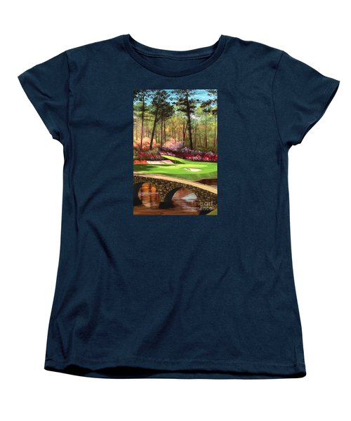 12th Hole At Augusta Ver Women's T-Shirt (Standard Cut) by Tim Gilliland