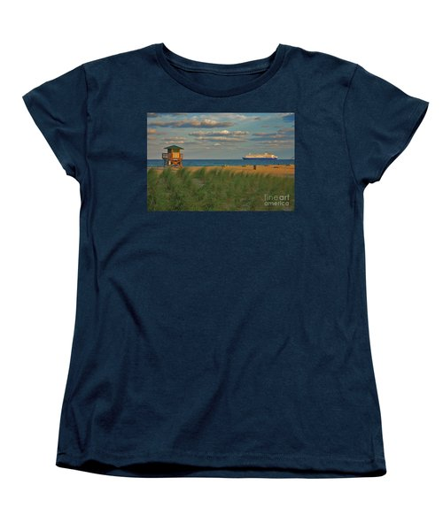 Women's T-Shirt (Standard Cut) featuring the photograph 13- Cruising In Paradise by Joseph Keane