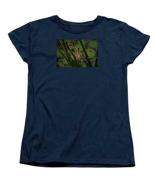 Water Lilly Women's T-Shirt (Standard Cut) by Ronald Olivier