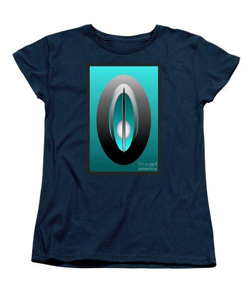 Women's T-Shirt (Standard Cut) featuring the digital art 1328-5 by John Krakora