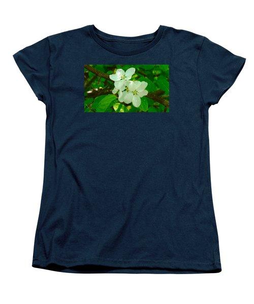 Apple Blossoms Women's T-Shirt (Standard Cut) by Johanna Bruwer