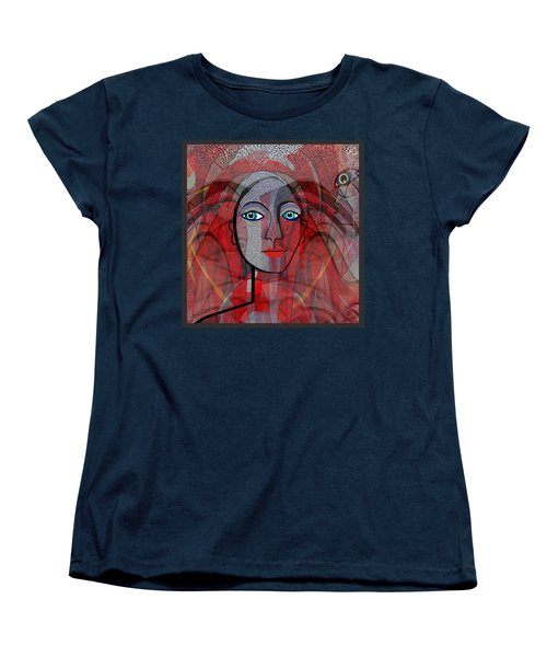 1459 Cubic Lady Face Women's T-Shirt (Standard Cut) by Irmgard Schoendorf Welch