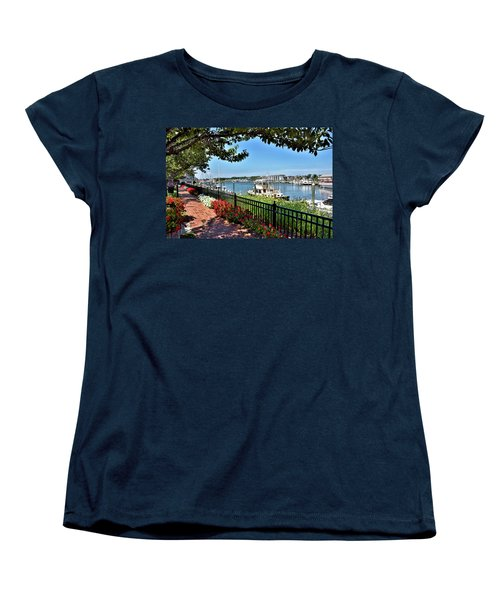 Women's T-Shirt (Standard Cut) featuring the photograph 1812 Memorial Park - Lewes Delaware by Brendan Reals
