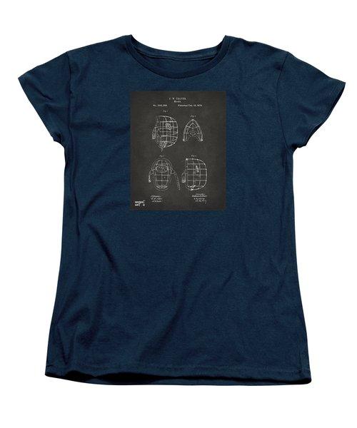 1878 Baseball Catchers Mask Patent - Gray Women's T-Shirt (Standard Cut) by Nikki Marie Smith