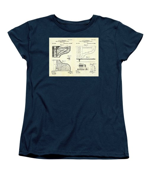 1880 Steinway Piano Forte Patent Art Sheets V2 Women's T-Shirt (Standard Cut)