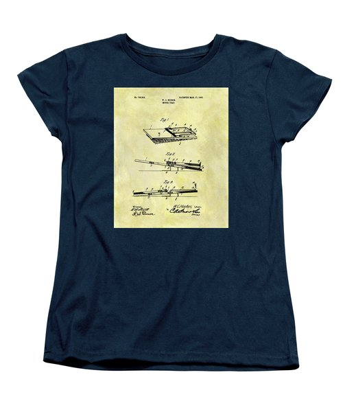 Women's T-Shirt (Standard Cut) featuring the mixed media 1903 Mouse Trap Patent by Dan Sproul