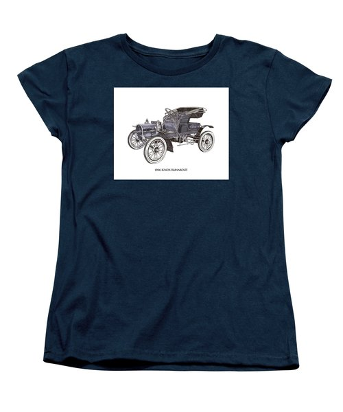 Women's T-Shirt (Standard Cut) featuring the drawing 1906 Knox Model F 3 Surry by Jack Pumphrey