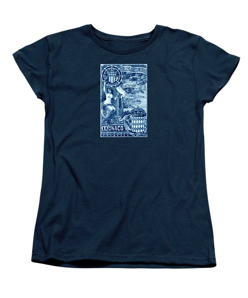 Women's T-Shirt (Standard Cut) featuring the painting 1912 Monaco Automobile Rally by Historic Image