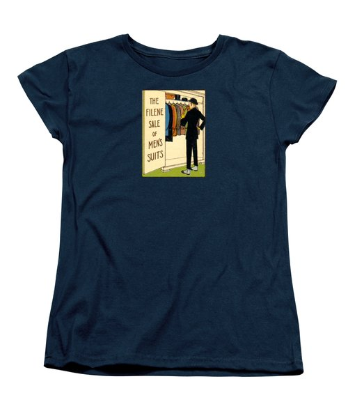 Women's T-Shirt (Standard Cut) featuring the painting 1920 Mens's Suites On Sale by Historic Image