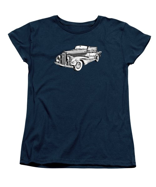 1938 Cadillac Lasalle Illustration Women's T-Shirt (Standard Cut) by Keith Webber Jr