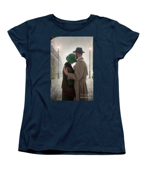 1940s Couple At Dusk  Women's T-Shirt (Standard Cut) by Lee Avison
