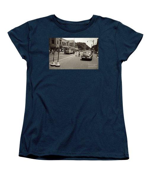 1940's Inwood Trolley Women's T-Shirt (Standard Cut) by Cole Thompson