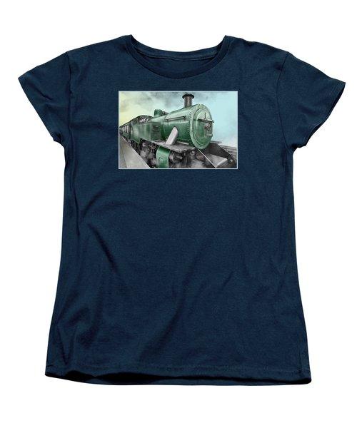 1940's Steam Train Women's T-Shirt (Standard Cut) by Marty Garland