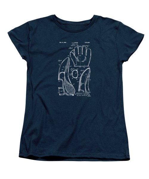 1941 Baseball Glove Patent - Blueprint Women's T-Shirt (Standard Cut) by Nikki Marie Smith