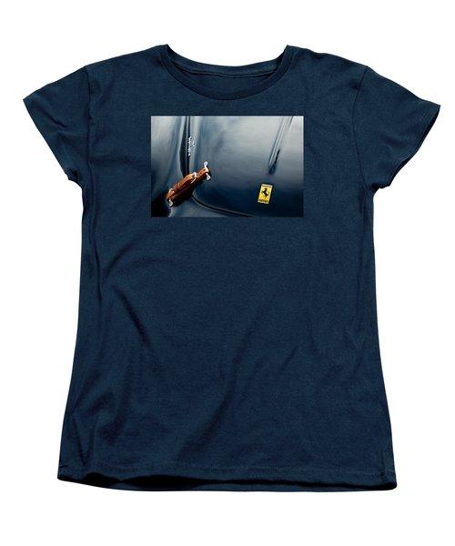 1950 Ferrari Hood Emblem Women's T-Shirt (Standard Cut) by Jill Reger