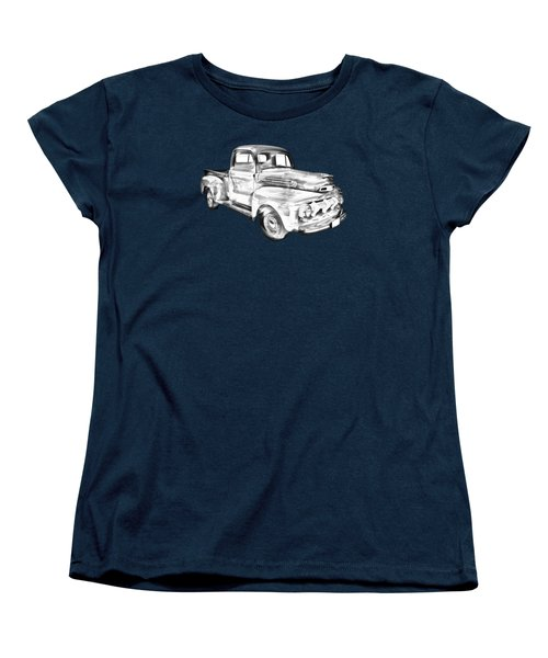 1951 Ford F-1 Pickup Truck Illustration  Women's T-Shirt (Standard Cut) by Keith Webber Jr
