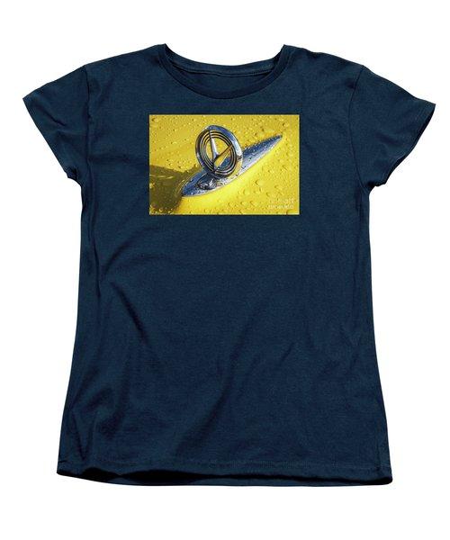 Women's T-Shirt (Standard Cut) featuring the photograph 1955 Buick Hood Ornament by Dennis Hedberg