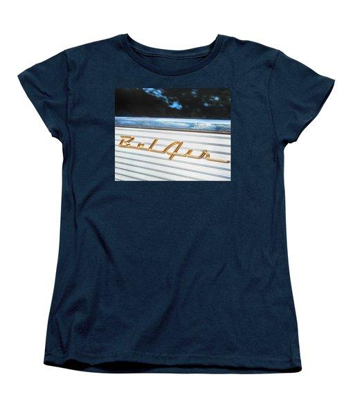 1957 Chevrolet Bel Air Women's T-Shirt (Standard Cut) by Theresa Tahara