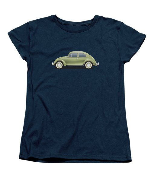 1957 Volkswagen Deluxe Sedan - Diamond Green Women's T-Shirt (Standard Cut) by Ed Jackson