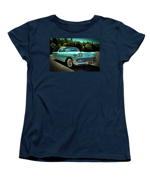 1958 Chevrolet Impala Women's T-Shirt (Standard Cut) by David Patterson