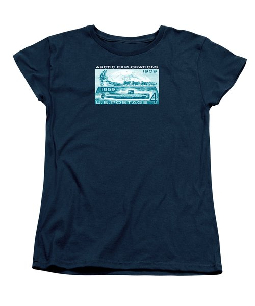 Women's T-Shirt (Standard Cut) featuring the painting 1959 Arctic Explorations by Historic Image