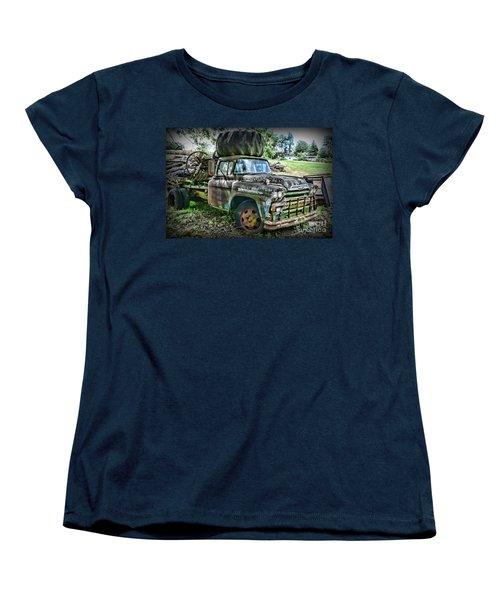 Women's T-Shirt (Standard Cut) featuring the photograph 1959 Chevrolet Viking 60 by Paul Ward