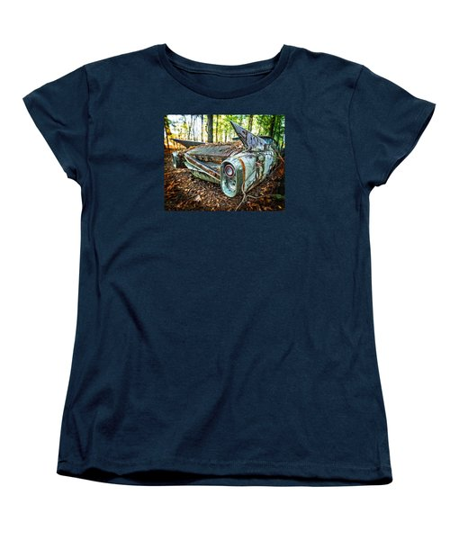 Women's T-Shirt (Standard Cut) featuring the photograph 1960 Cadillac At Rest by Alan Raasch