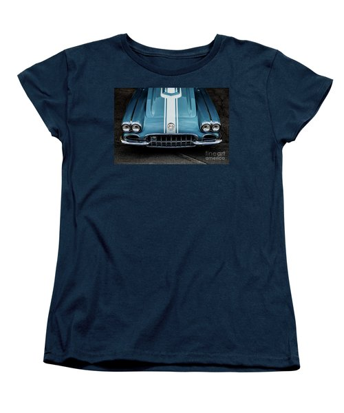 Women's T-Shirt (Standard Cut) featuring the photograph 1960 Corvette by M G Whittingham