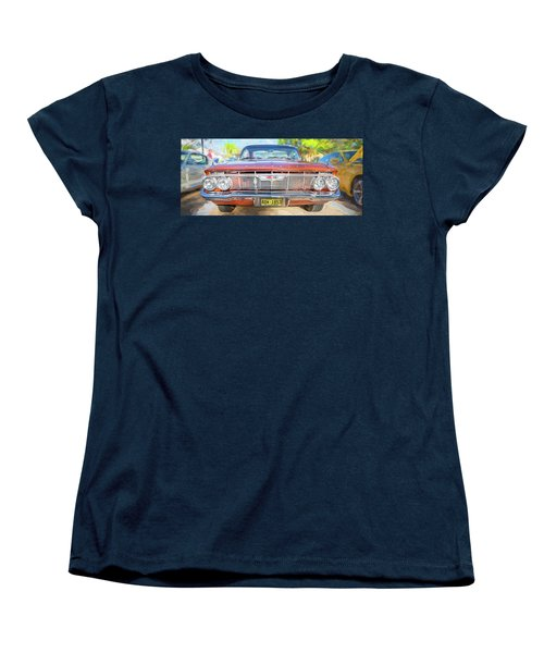 Women's T-Shirt (Standard Cut) featuring the photograph 1961 Chevrolet Impala Ss  by Rich Franco