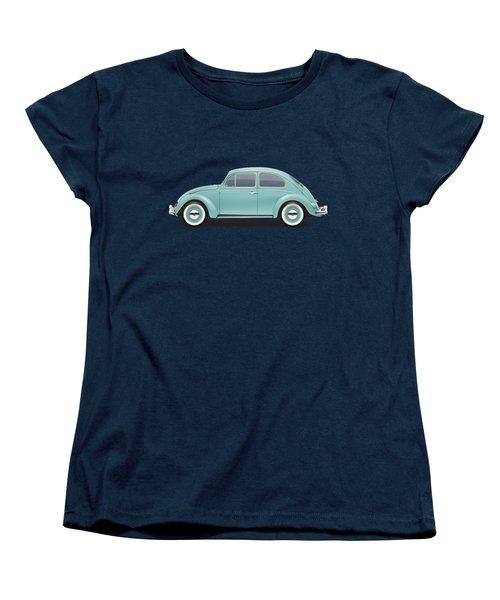 1961 Volkswagen Deluxe Sedan - Turquoise Women's T-Shirt (Standard Cut) by Ed Jackson