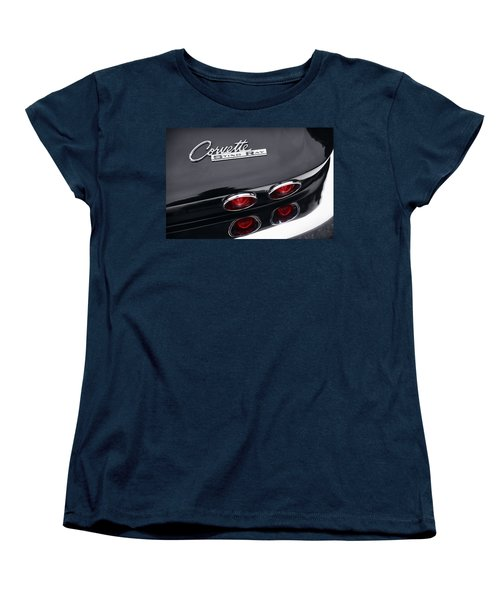 Women's T-Shirt (Standard Cut) featuring the photograph 1964 Chevrolet Corvette Sting Ray  by Gordon Dean II