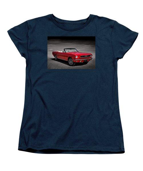 1966 Ford Mustang Convertible Women's T-Shirt (Standard Cut) by Douglas Pittman