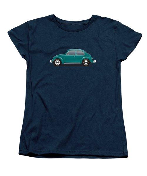 1967 Volkswagen Sedan - Java Green Women's T-Shirt (Standard Cut) by Ed Jackson