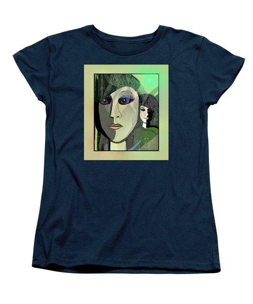 Women's T-Shirt (Standard Cut) featuring the digital art 1968 - A Dolls Head by Irmgard Schoendorf Welch
