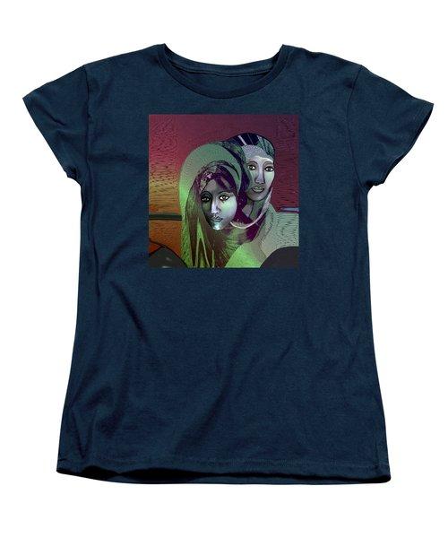 Women's T-Shirt (Standard Cut) featuring the digital art 1972 - 0n A Gloomy Day - 2017 by Irmgard Schoendorf Welch