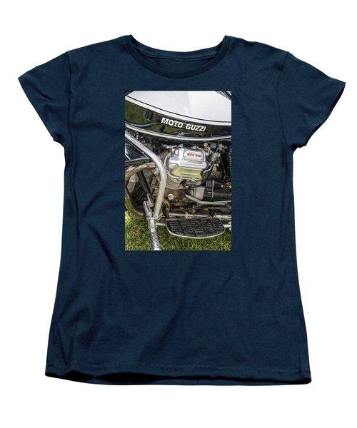 Women's T-Shirt (Standard Cut) featuring the photograph 1976 Moto Guzzi V1000 Convert by Roger Mullenhour