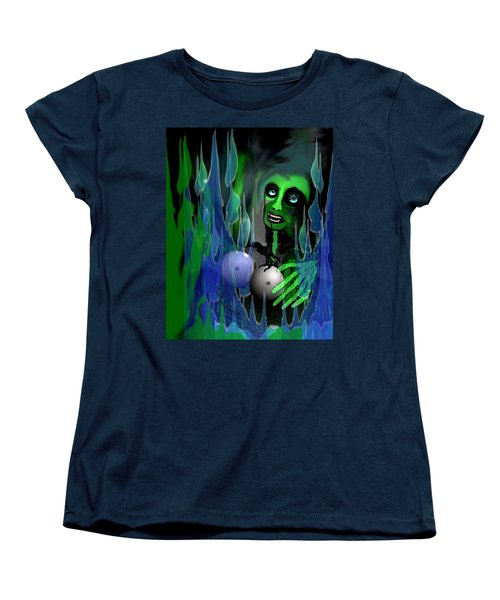 Women's T-Shirt (Standard Cut) featuring the digital art 1981 - But My New Silicon Breasts Will Last Forever 2017 by Irmgard Schoendorf Welch