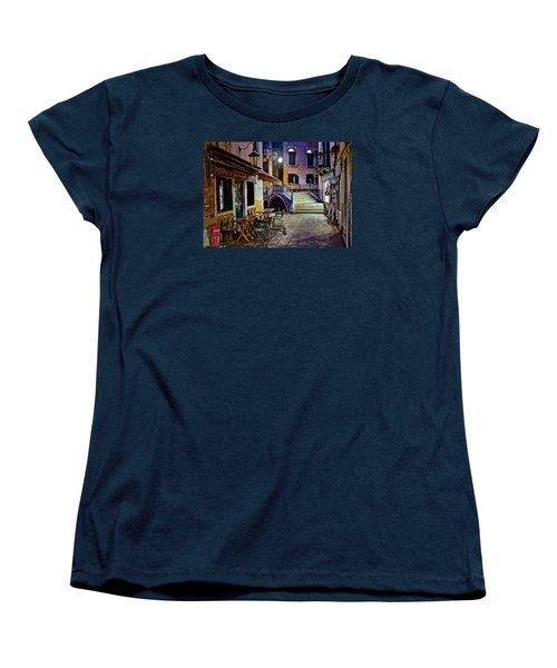 An Evening In Venice Women's T-Shirt (Standard Cut) by Frozen in Time Fine Art Photography