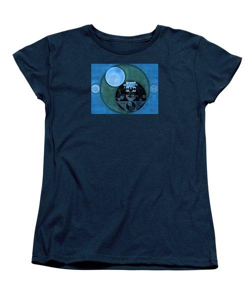 Abstract Painting - Lapis Lazuli Women's T-Shirt (Standard Cut) by Vitaliy Gladkiy