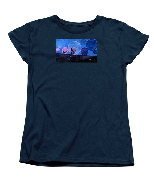 Women's T-Shirt (Standard Cut) featuring the digital art Abstract Painting - Saint Patrick Blue by Vitaliy Gladkiy